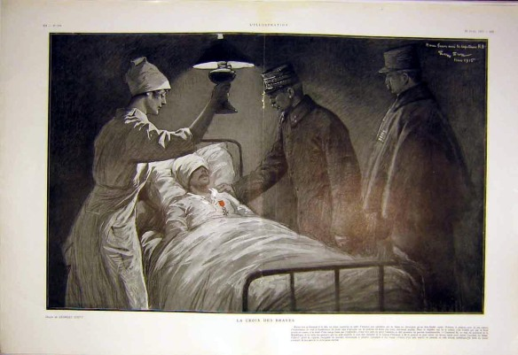 nurse with wounded